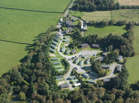 Birds-eye view of Reynard Crag Holiday Park