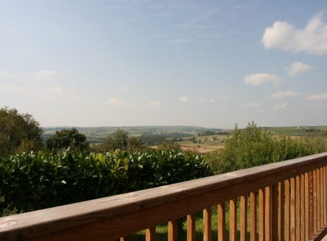 Holiday Park Lodges with view of the Yorkshire Dales
