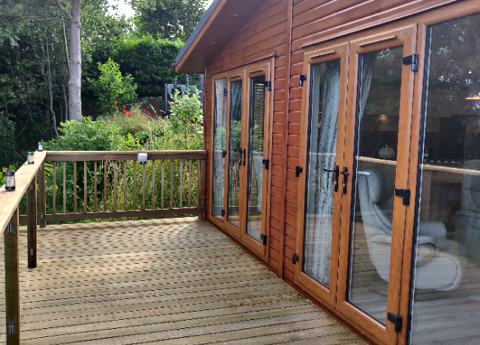 Plot 21 outside decking